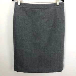 J.Crew No 2 Wool Pencil Skirt Size 8 Knee Length